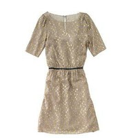 Gorgeous gold dotted silk dress by Madwell 1937