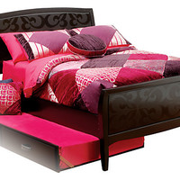Belle Noir Dark Merlot 3 Pc Twin Bed