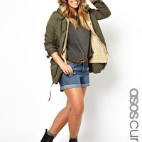 ASOS Curve | ASOS CURVE Exclusive Parka With Detachable Faux Fur at ASOS