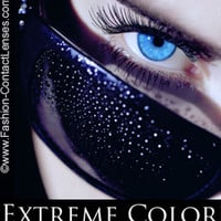 Seductive Blue Extreme Color Contact Lenses