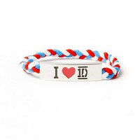 One Direction I Heart 1D Braided Stretch Bracelet  | Claire's