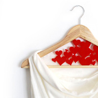Wedding Love Hanger - Hearts - customize hanger - HangOnMe