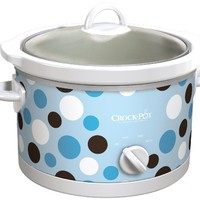 Crock-Pot SCR450-BP Slow Cooker, 4.5-Quart, Polka Dot Pattern:Amazon:Kitchen & Dining
