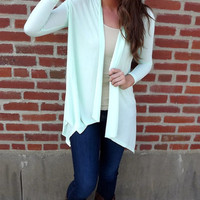 Icy Mint Cardigan | The Rage