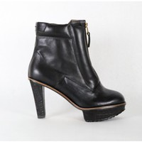 reike nen zip front lug heel in black Oak