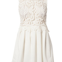 Lace Top Dress, Reverse