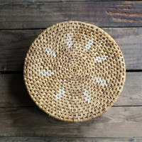 vintage lidded basket