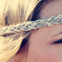 The Grecian Goddess Exotic Braid Headband Neutral by adelitakelly