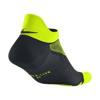 Nike Elite Hyper-Lite No-Show Running Socks - Volt