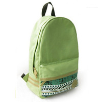 Mint Green Canvas Backpack with Tribe Embellishment from AsbestosAccessories