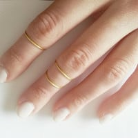 Set of 3 Gold Above Knuckle Rings // Dainty Rings // Adjustable Rings