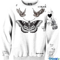 Cute Style Tattoo Crewneck