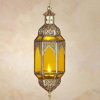 Small Latika Hanging Lantern, Amber  