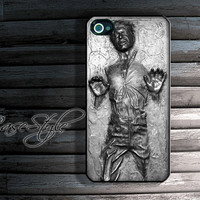 Han Solo carbonite iPhone 4 case, iPhone 4s case, case for iPhone 4. Black or white.Includes a screen protector for free