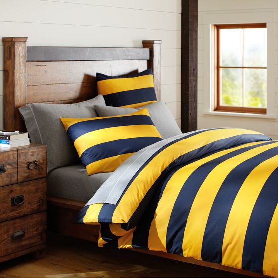 Rugby Stripe Duvet Cover Sham From Pbteen Cameron Bedroom