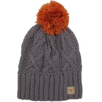 Nike Texas Longhorns Women's Cable Knit Pom-Pom Beanie - Charcoal
