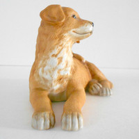 Dog Figurine Golden Retriever Ceramic Puppy HOMCO 1471