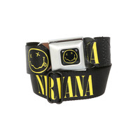 Nirvana Smiley Seat Belt Belt | Hot Topic