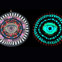 Glow in the Dark Blacklight Nazar Evil Eye Art Pendant Number113
