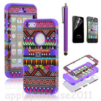051021 Totem Protective Case For Iphone 4/4s/5 with pen and sticker