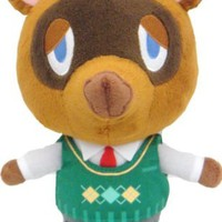 "Sanei Animal Crossing New Leaf: Tom Nook/Tanukichi 8"" Plush"