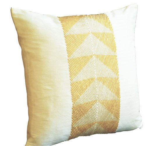 White Gold Throw Pillow : White And Gold: White And Gold Throw Pillow