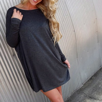 Deep Gray Piko Tunic/Dress | The Rage