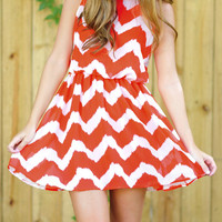 Red Robin Dress: Red/White | Hope's