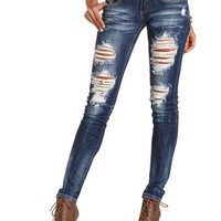 MACHINE JEANS DESTROYED SKINNY JEAN