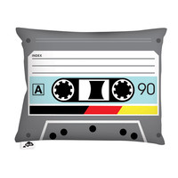 Aksel Varichon: Audiotape Pillow 20x14 Black, at 25% off!