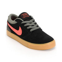 Nike SB P-Rod 5 LR Lunarlon Black, Atomic Red & Gum Suede Skate Shoe at Zumiez : PDP