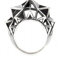 Sterling Silver Cocktail Ring  ◊ Bottega Veneta ✽ mytheresa.com