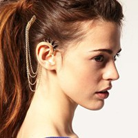 ASOS | ASOS Spike Ear Cuff And Comb at ASOS