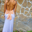 Love At First Sight Maxi Dress: Grey/Peach | Hope's