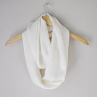 Cream Infinity Scarf - Fall Fashion, Fall Accessories, Gift for Women