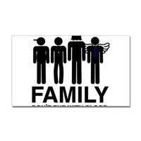 Supernatural Family Don't End With Blood Sticker Sticker Rectangle by CafePress