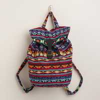 Multicolored Woven Backpack | World Market
