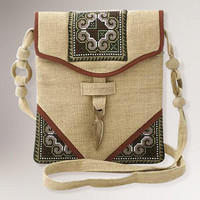 Novica Miracle Red Hemp Shoulder Bag | World Market