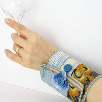 arm cuff coffee cuff wrist cuff fabric cuff home by piabarile