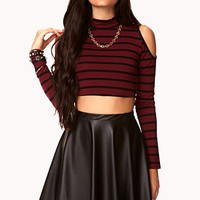 Heroine Striped Crop Top