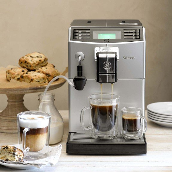 saeco minuto espresso machine from williams sonoma i. Black Bedroom Furniture Sets. Home Design Ideas