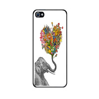 Handmade Case for iPhone 4S with Elephant Art design -High Quality Case and Made to Order - Ships at the same day from USA