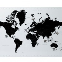 Magnetic World Map from I Love Retro | Made By  | £45.00 | BOUF