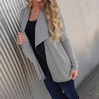 Herringbone Ruffle Cardi | The Rage