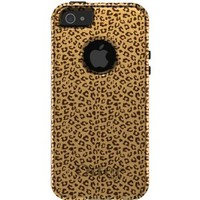 CUSTOM OtterBox Commuter Series Case for iPhone 5 - Brown Tan Beige Cheetah Skin Print Pattern