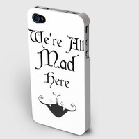 "Alice in Wonderland inspired - ""We're All Mad Here"" - iPhone case NOW ONLY $15!"