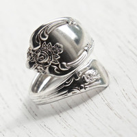 Vintage Spoon Ring - Adjustable Silver Plated Signed WMA Rogers Oneida Ltd. Retro Flatware Costume Jewelry / Vanessa Magnolia
