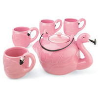 flamingo tea set-Chasing Fireflies