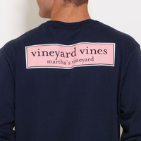 Men's T-Shirts: Long-Sleeve VV Rectangle Logo Graphic T-Shirt for Men - Vineyard Vines