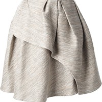 Carven Pleated Tweed Wrap Skirt - Elite - Farfetch.com